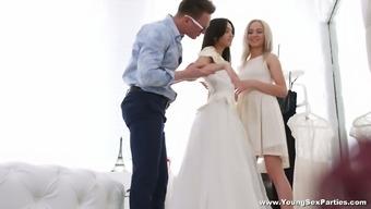 Designer Fucks Bride Td Bambi And Her Pretty Maid Of Honor Veronica