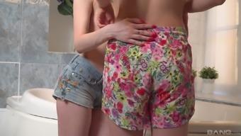 Adorable Anita And Mila Enjoy Lesbian Licking In The Bathroom