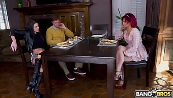 Provocative Brunette Ryder Skye Gets Mouth And Pussy Fucked