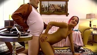 Petite Redhead Sluts Zoe Zebra Fucked By An Older Gentleman