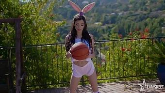 Lovely Cutie With Nice Bunny Ears Savannah Sixx Deserves Outdoor Pounding