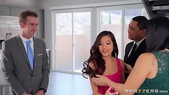 Cheating Wife Vina Sky Fucked In Ass By Her Husband'S Partner