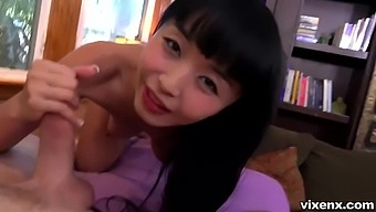 Experienced Asian Brunette, Marica Hase Is Having Sex With Her Neighbor, Just For The Fun Of It