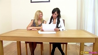 Mature Babes Amissi And Scarlett March Play With One Stiff Cock