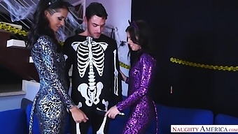 Steamy Threesome Sex With Two Devilish Babes Adriana Chechik And Abby Lee Brazil