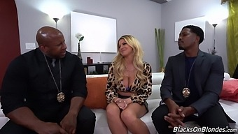 A Pair Of Throbbing Black Peens For Passionate Brooklyn Chase