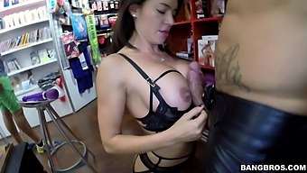 Incredible Fucking In The Sex Shop With Stunning Franceska Jaimes
