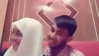 Bangladeshi Girlfriend And Boyfriend Smooching In A Restaurant