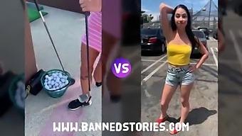 Bnds Video: Golf Girls: Gabbie Carter Vs Alex Coal