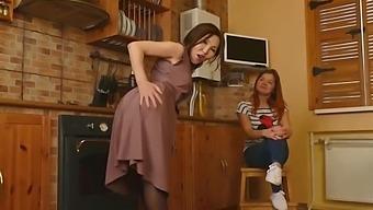 Asian Mature Mom Seduce Girl On Kitchen