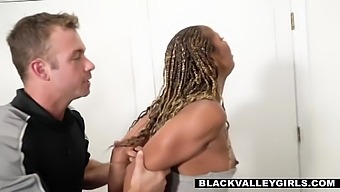 Ebony Babe Punished For Removing Her Ankle Bracelet With Misty Stone And Chad White