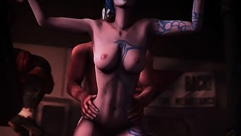 3d Hentai Maya Enjoyed A Huge Cock
