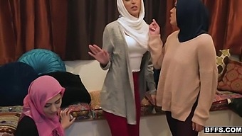 Audrey Charlize, Sophia Leone And Monica Sage - Three Young Muslim Babes Are Getting A Little Too Curious About Cock
