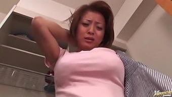 Busty Japanese Girl Reiko Yamaguchi Enjoys Getting Pleasured