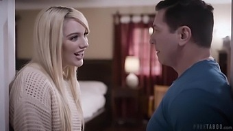 Slender Young Girl Kenna James Seduced Her Step-Father For His Cum
