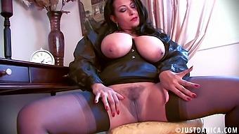 Provocative Mature Danica Collins Spreads Her Legs To Masturbate