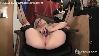 Ruby Vibrating Her Pink Pussy