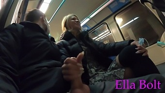 Risky. Jerking Off A Stranger In A London Public Train - Ella Bolt