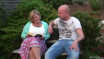 Sexy Lacey Starr Gets Talked Into Banging With A Friend Outdoors
