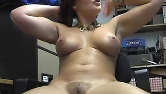Solo Amateur Elle Brook Enjoys Playing With Her Pussy On The Chair