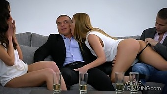 Wild Swinger Anal Fuck And Rimjob Session With Nataly Gold And Alexis Crystal