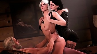 3d Compilation Of Video Games Girls Fuck In Threesome