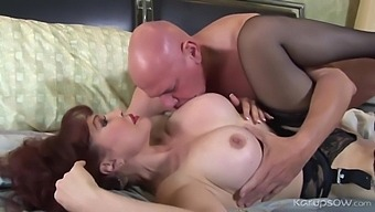 Hot Milf Vanessa Making A Fat Old Bald Man Very Very Happy