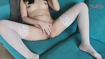 Teasing 2 - Asian Creampie Lots Of Cum On Dildo From Tight Pussy