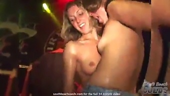 Wet Tshirt Contest At Dirty Harrys Key West Florida With Lots Of Pussy Flashing