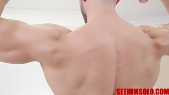 Hot Boy Shows Oiled Up Muscles And Big Bulge