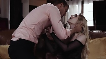 Blonde Bombshell Emma Starletto Collects Cum On Her Cunt After Sex
