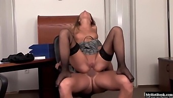 Hungarian Beauty Gets Anal In Office With Lauren May