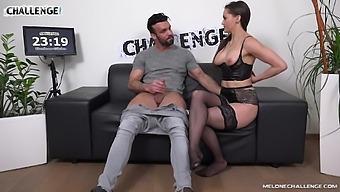 Muscular Dude Fucks Sexy Pornstar Barbara Bieber For A Challenge