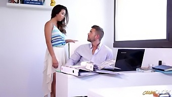 Curvy Office Slut Frida Sante Is Turned Into A Really Wild Cowgirl