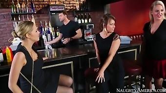 Katie Kox In Black Stockings Gets Hard Fucking