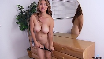 Busty Milf Lucy Page Drops Her Clothes And Drills Her Pussy