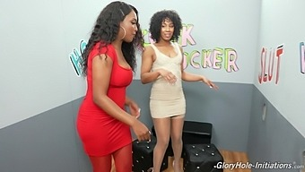 Cecilia Lion Shares A Dick In The Gloryhole With Daya Knight