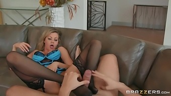 Keiran Lee And Riley Steele In Juicy Blonde Moistens Cock With A Blowjob Before Anal Sex