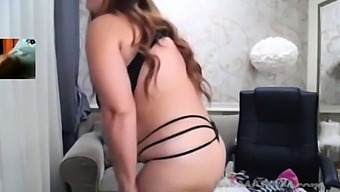 Curvy Milf Striptease On Webcam