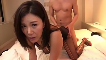 Seductive Japanese Chick Katase Hitomi Gets Fucked By Two Dudes