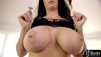 Mouth Watering Babe With Full Natural Boobs Alison Tyler Jerks Off Cock