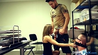 Tied Up And Gagged Cuckold Just Watches Norah Nova Fucking Mad For Orgasm