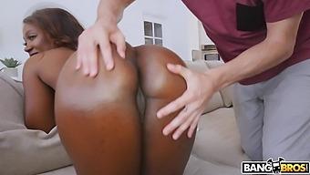 Adorable Ebony Girlfriend Skyler Nicole Moans During Nice Fucking