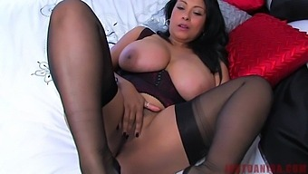Horny Danica Collins Likes To Play With Her Big Tits And Pussy