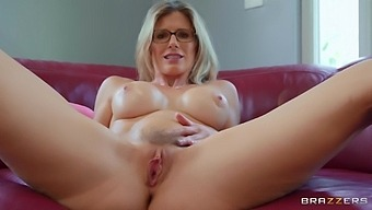 Horny Milf Cory Chase Takes Off Clothes To Play With A Dildo