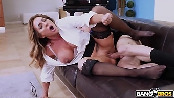 Horny Mature Wife Aubrey Black Cheats Her Hubby With His Coworker