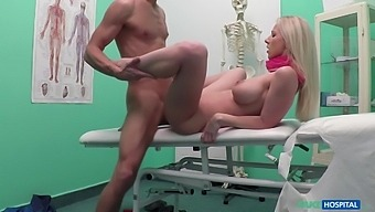 Czech Beauty Spreads Her Legs Wide For Doctors Cock With Lutro Steel And Nathaly Cherie