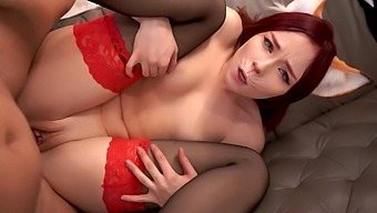 Fox Kittsune Distracted And Hard Fucked In Different Poses And Powerful Cum In Mouth