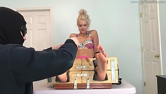 Ashleys Real Tickle Time In The Stocks - (Partial Clip)