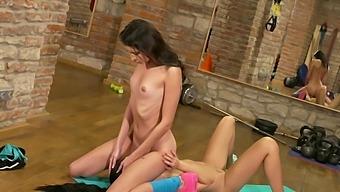 Teen Gymnast Lady Dee Hooks Up With Sexy Trainer Bambi Joli